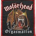 Motorhead Original Orgasmatron woven patch