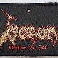 VENOM - Welcome to Hell original strip woven patch
