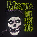 "MISFITS ""Riotfest 2016/Chicago Sept 18th"" Tour shirt B"