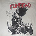 "MISFITS/UNDEAD ""Never Say Die"" album cover shirt signed by BOBBY STEEL"