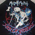 "Midnight - TShirt or Longsleeve - MIDNIGHT ""Shox of Violence"" 2017 american tour ringer shirt"