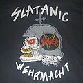 "Slayer - TShirt or Longsleeve - SLAYER ""Slatanic Wehrmacht"" original 1985 Boutwell/Screen stars shirt with..."