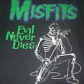 "Misfits - TShirt or Longsleeve - MISFITS ""Evil Never Dies"" original late 80s Screen Stars band shirt"
