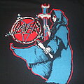 "Slayer - TShirt or Longsleeve - SLAYER ""Spill the Blood"" 1998 reissue bootleg version."