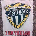 Anthrax - I Am The Law - Back Patch