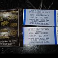 Absu - Other Collectable - ABSU/NIGHTBRINGER TICKETS I won from a contest at brutalexistenceradio.com