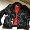 "Leather Jacket Black & Red ""Sanctuary"""