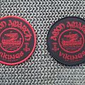 Amon Amarth red border vikings patch