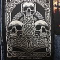 Amon Amarth- hammer of thor 3 skulls b/w woven patch