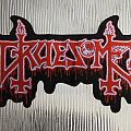 Gruesome- shaped logo patch