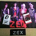 zex tape with poster and patch