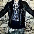 - - Battle Jacket - Pitch Black vintage Leather for sale