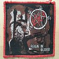 Slayer - Reign In Blood ( Red Border Patch )