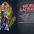 1988 Slayer World Sacrifice Priest Stabbing Aug. 7 - 20 Tour Shirt