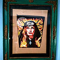 King Diamond - Patch - Fatal Portrait Pendant on cool frame