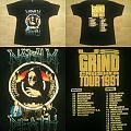 Napalm Death - TShirt or Longsleeve - NAPALM DEATH US Grincrusher Tour 1991