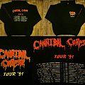 CANNIBAL CORPSE Tour Zipper 1991 Hooded Top