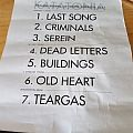 Katatonia half of setlist 4/14/17 Other Collectable