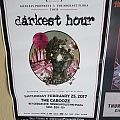 Darkest Hour 2017 gig poster Other Collectable