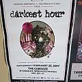 Darkest Hour 2017 gig poster