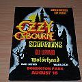 Ozzy osbourne Monsters of rock 1986 Tourprogram