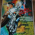 Iron Maiden Maiden England 88 promo poster (complete signed) Other Collectable