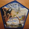 Angel Dust Into the Dark Past patch with blue border