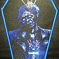 Asphyx - Patch - Asphyx - Last One on Earth coffin shaped patch (blue border)