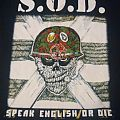 T shirt S.O.D. - Speak English Or Die