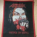 Anthrax - Fistful of Metal - red border Patch