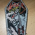 Slayer - Jeff Hanneman Coffin - silver border Patch