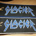 Glacier Stripe - blue/silver border Patch