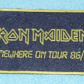 Iron Maiden - Somewhere on tour 86/87rubber patch