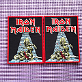 """Iron Maiden """"Sanctuary"""" red border Patch!!"""