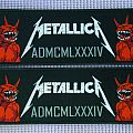 Metallica ADMCMLXXXIV  strip patch