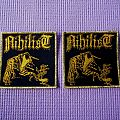 Nihilist woven patch !!