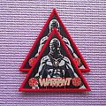 WARRANT The Enforcer Triangle Patch red border !!