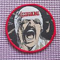 SCORPIONS- black out ,round red border woven patch !!