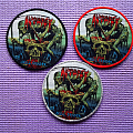 """AUTOPSY """"Skull Grinder"""" Woven Patches."""