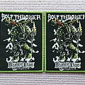 Bolt Thrower woven patches disponíveis.
