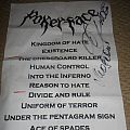 Pokerface setlist Other Collectable
