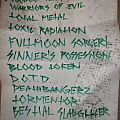 Deathhammer setlist