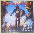 ARMORED SAINT live LP signed by four original members! Tape / Vinyl / CD / Recording etc