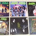 Signed OVERKILL vinyls! Tape / Vinyl / CD / Recording etc