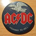 AC/DC - Other Collectable - AC/DC Highway to hell - old big plastic button