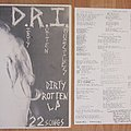 D.R.I. Dirty Rotten LP US press 1983