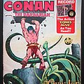 CONAN The barbarian Comics with 7 inch record 1976 Other Collectable