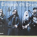 Triumph Of Death Hellhammer signed promo card Other Collectable