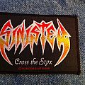 SINISTER - CROSS THE STYX 1992 orig. vintage woven Patch