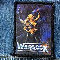 Warlock - Triumph and Agony original printet Patch